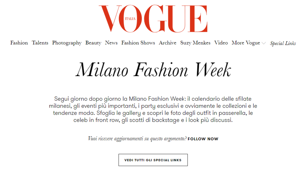 A Milano è iniziata la Fashion Week, settimana della moda e dell'itanglese