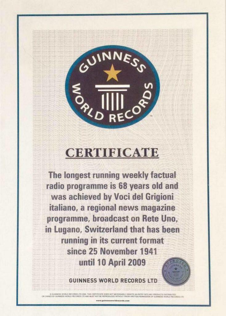 Gli 80 anni di Voci del Grigioni italiano, il settimanale radiofonico più longevo al mondo
