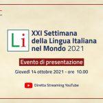 Lunedì si apre la XXI Settimana della Lingua italiana nel mondo